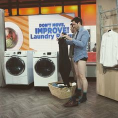 Anyone see  our laundry room tips on the @todayshow show? #PantlessProBros