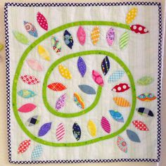 """Spring Mini Quilt - Pattern from the book """"Quilting... from little things"""" sameliasmum.com"""
