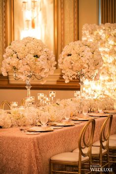 Wedluxe A White Fl Filled Wedding With Gilded Details Photography By Reception Decorationssweet Peaswhite