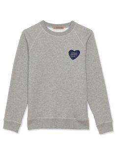 ALEXA CHUNG Lonely hearts club badge flock sweatshirt. #alexachung #cloth #
