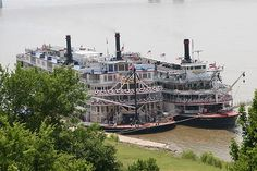 Boarding a steamboat is entering another era. The captain barks orders through an old-time hand-held megaphone. The calliope trills into the air while the great wheel, 25 tons of white oak, churns the heavy Mississippi waters. You slip into a sense of the old, vast, timeless river. As it glides past the French Quarter, you understand the magic of the experience. For all its history and romance, the excitement of riding a steamboat is as real, rich and genuine as it was a century ago.