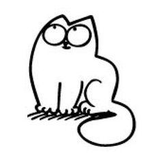 Adesivo Decorativo Simon's Cat Pensando