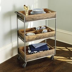 Pemberton Cart - this could be really fun next to the bed or anywhere else for storage!