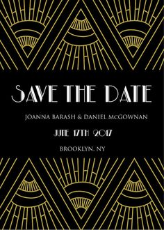 Art deco save the date, black and gold save the date, black and gold art deco save the date, black white and gold save the date