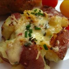 Cuban Crushed Potatoes with PepperJack and Parmesan