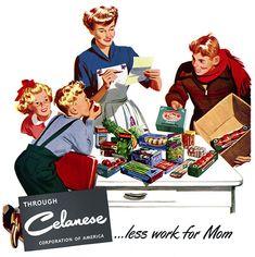 Plan59 :: 1950s Illustration :: Celanese Plastics, 1950