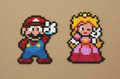 Duo di Mario Peach perline Hama Perler