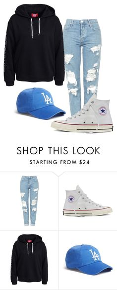 """school"" by grraciie-386 on Polyvore featuring Topshop, Converse and American Needle"