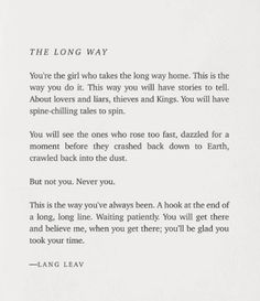 lang leav - the long way