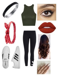 """""""Untitled #673"""" by glamor234 on Polyvore featuring Topshop, adidas Originals, adidas, Charlotte Russe, Lime Crime and Charlotte Tilbury"""