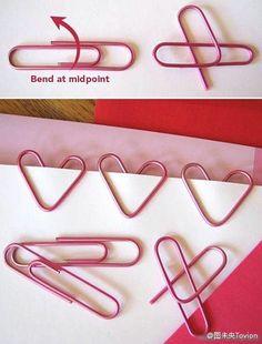 DIY heart-shaped paper clip