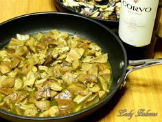 Italian food - Funghi porcini in padella