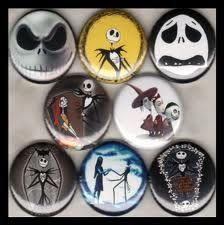 Nightmare Before Christmas Button Pins set