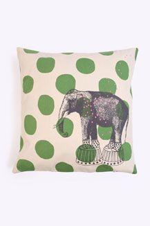 La Cerise Sur Le Gateau Elephant Cushion Cover, Elephant theme here maybe?