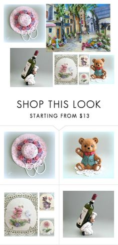"""""""A Floral Affair"""" by overthetopcaketoppers ❤ liked on Polyvore featuring interior, interiors, interior design, home, home decor and interior decorating"""
