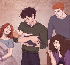 Ginny Weasley tecknad Porr