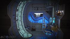 3D Environment Artist Michael Dunnam Sci-fi Chambre créé pour Les Messagers