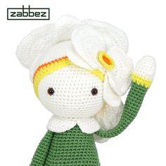 Crochet pattern amigurumi doll Orchid Ollie PDF by Zabbez on Etsy