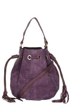 Suede crossbody bag - love this color $56 @Nordstrom