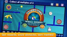 Marble Math, Marble Math Jr.,  and Marble Math Lite: Multiplication are three outstanding apps and top picks as educational apps.  From popular developer Artgig Studio, these apps have a unique game-play, focus on essential Common Core math skills, and are just plain fun!  Kids will thoroughly enjoy this math experience - Fun Educational Apps - TOP PICK