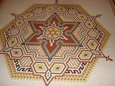 Mosaic flower/Jewish star