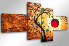 Quadro su Tela Quadri Moderni XXL cm 200x100 ALBERO MAGICO 3 arredamento arredo | eBay