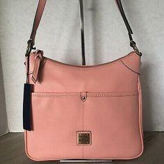 Dooney & Bourke Kimberly Crossbody Bag Pale Pink Saffiano Leather  | eBay Crossbody Shoulder Bag, Crossbody Bag, Dandelion Yellow, Handbags On Sale, Black Cross Body Bag, Dooney Bourke, Pale Pink, Pebbled Leather, Satchel