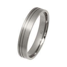 Modern Titanium Wedding Ring
