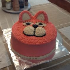 Kitty cat birthday cake..not sure about frosting