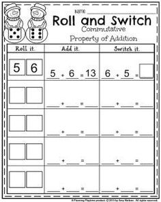 image relating to Printable Math Games for 1st Grade referred to as 8 Suitable Commutative Household of Addition visuals within just 2017