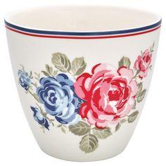 Greengate dot white bowl medium Schale Schüssel kleines schwedenhaus Landhaus