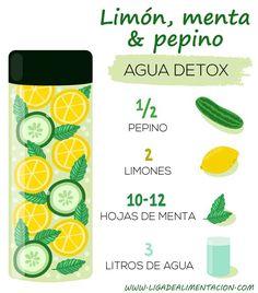 Agua saborizada depurativa #receta #verano #agua
