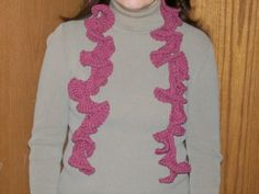Crochet an Easy Ruffle Scarf This Winter