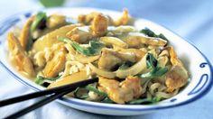 Kyllingewok med grøn karrypasta