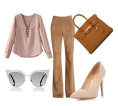 """""""Untitled #9"""" by ana-luiza-meireles on Polyvore featuring Dorothy Perkins, Hermès and Fendi"""