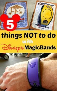 5 Things NOT to do with Disney's MagicBands! It's so much fun learning what Walt Disney World MagicBands can do.but you should also keep in mind that there are a few things you shouldn't try! Here's our list of 5 things NOT to do with your MagicBands. Disney World Vacation Planning, Disney World Florida, Walt Disney World Vacations, Disney Resorts, Disney Planning, Disney Parks, Disney Cruise, Vacation Ideas, Disney 2017