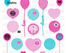 Awareness Ribbons Monogram Frames SVG Cut Files for by MoonMinted