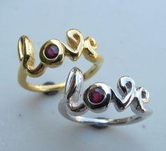 Ruby Love Ring handmade by Belesas