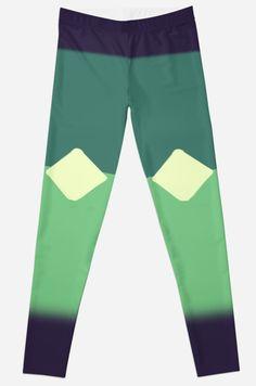 Steven Universe Peridot Leggings by pixiestixnstone....*LE GASP*I NEED GREEN SPACE DERITOE LEGGINGS!