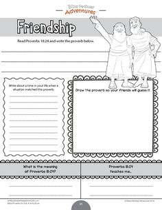 Bible Proverbs for Kids Coloring Activity Book Bible Activities For Kids, Bible Study For Kids, Bible Lessons For Kids, Worksheets For Kids, Proverbs For Kids, Book Of Proverbs, Kids Sunday School Lessons, Sunday School Activities, Friendship Bible