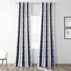 Modify your room by flambe blue Blackout Room Darkening curtain panels. Printed Blackout Room Darkening curtains – find & order luxury printed curtains at our dazzling collection. Curtains 1 Panel, Printed Curtains, Room Darkening Curtains, Bedroom Curtains, Blue Curtains Living Room, Living Rooms, Contemporary Curtains