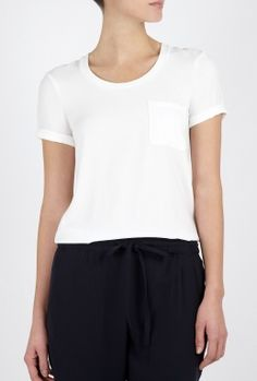 Theory White Tam W Silky T Shirt