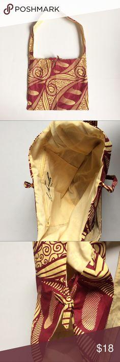 NWOT Handmade Bag Handmade in Uganda African Print Bag. Tie Closure Bags Shoulder Bags