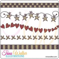 Prim Borders 1 Machine Embroidery Designs http://trinawalker.com/shop/index.php?main_page=product_info&cPath=78_79&products_id=169