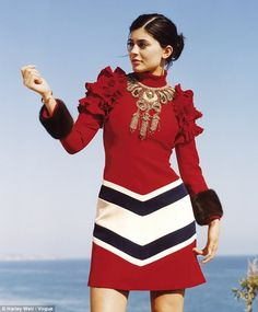 Kylie Jenner models vintage-inspired Gucci dress for Vogue spread | Daily Mail Online