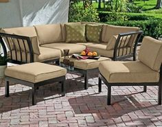 Outdoor Patio Sectional 7-Piece Sofa Set