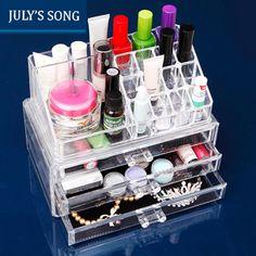 JULY'S SONG Makeup Organizer Storage Box PS Make Up Organizer Cosmetic Organizer Makeup Storage Drawers Organizer #Affiliate