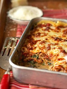 Florentine Lasagna This Italian specialty recipe features a delicious blend of Italian sausage, spinach, mozzarella, and ricotta cheeses.