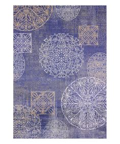 Another great find on #zulily! Purple Sea Floral Rug #zulilyfinds