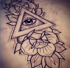 Trendy eye tattoo all seeing tatoo Ideas Dreieckiges Tattoos, Tattoo Femeninos, Kunst Tattoos, Trendy Tattoos, Sleeve Tattoos, Tattoo Neck, Third Eye Tattoos, All Seeing Eye Tattoo, 3rd Eye Tattoo